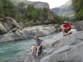 64 swimming spot on the ancient Santiago trail into Torla