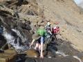 7 waterfall crossing near the glacier du Taillon