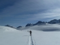 Skiing off piste in the Pyrenees