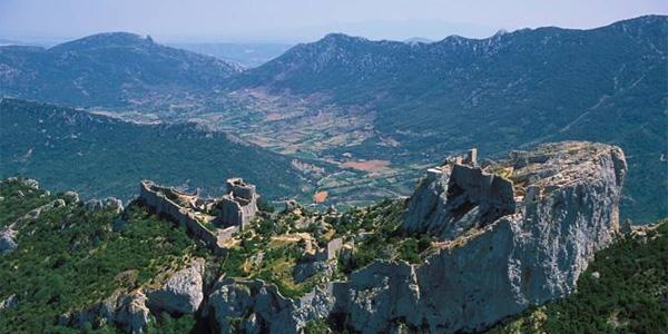 Peyrepertuse. Cathar stronghold, Eastern Pyrenees