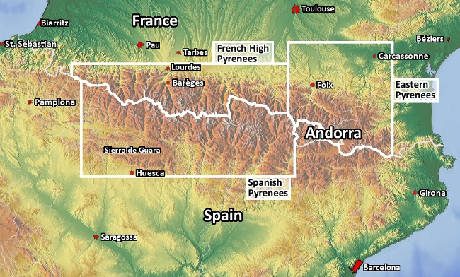 Pyrenees_Map