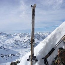 Ski touring Pyrenees - the breche on the Quatre Termes