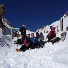 Ski touring Pyrenees - lunch stop
