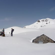 Ski-touring on the Plateaux d'Aoube