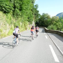 Beginning the climb up to Luz-Ardiden