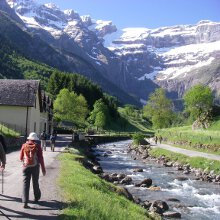 Walking in the Cirque de Gavarnie