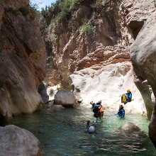 Canyoning in the Rio Vero © Jerome Laborde