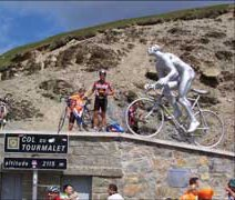 The stage finish at the Col du Tourmalet (2115m)