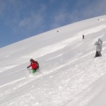 Off piste ski boarding course holiday
